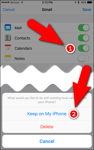 how to add google calendar to iphone how to add your gmail contacts and calendar to 19819