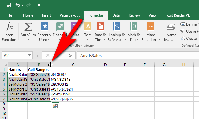 How to See All of the Named Cell Ranges in an Excel Workbook ilicomm Technology Solutions