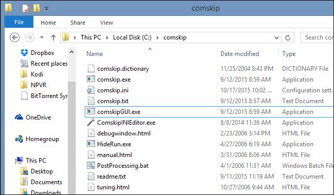 comskip-folder