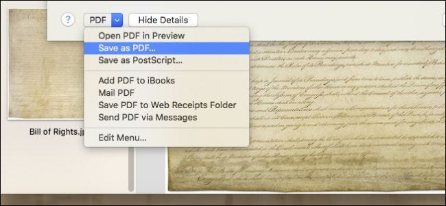 How to convert multiple images to pdf on mac