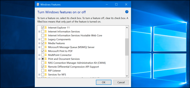 "What Windows 10's ""Optional Features"" Do, and How to Turn"