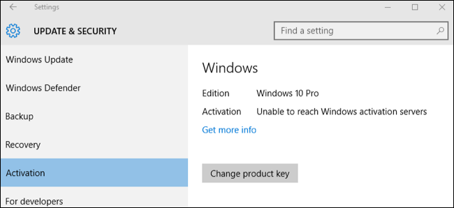 product key windows 10 pro 2016