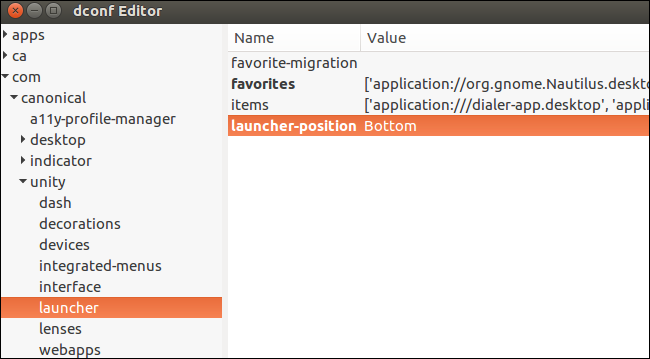 How to Move the Unity Desktop's Launcher to the Bottom of