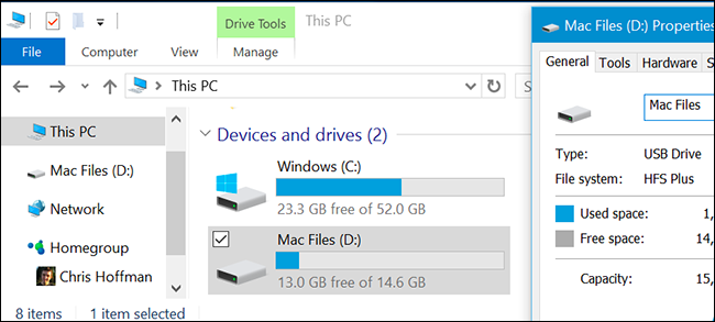 Partition the drive on Windows 10