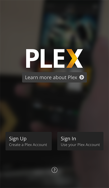Plex mobile sign in graphic
