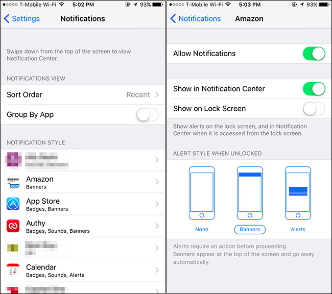 how to hide sensitive notifications from your iphone