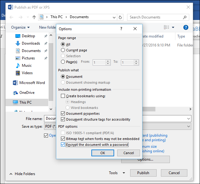 How to Password Protect Documents and PDFs with Microsoft Office