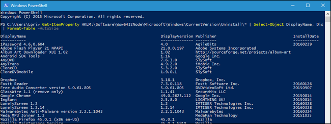 install an application using powershell