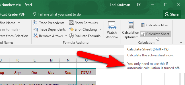 How to manually calculate only the active worksheet in excel ibookread ePUb