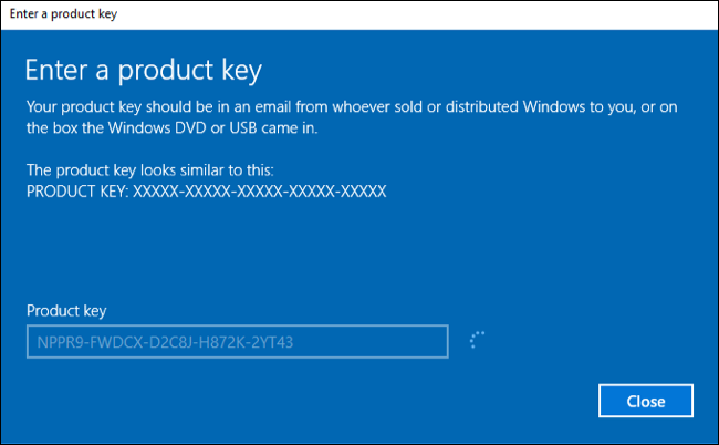 windows 10 command line volume license key