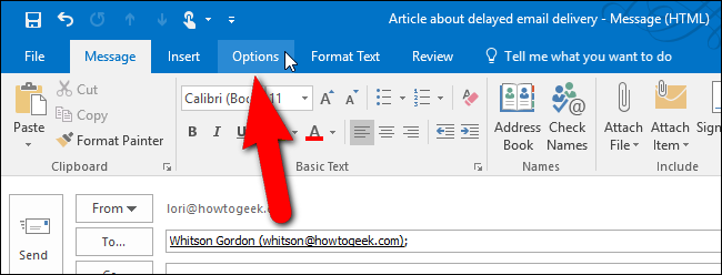 How to Schedule or Delay Sending Email Messages in Outlook