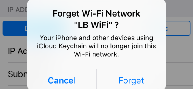 how to forget wifi network mac