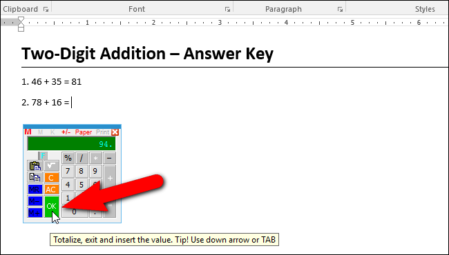 How to Add a Calculator to Microsoft Word ilicomm Technology Solutions
