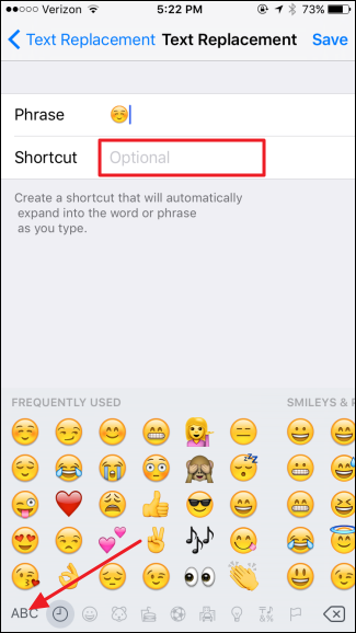 Insert Emoji Faster with iOS' Text Replacement Shortcuts