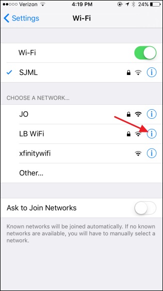 find wifi password on iphone how to forget a wi fi network on your iphone or 6725