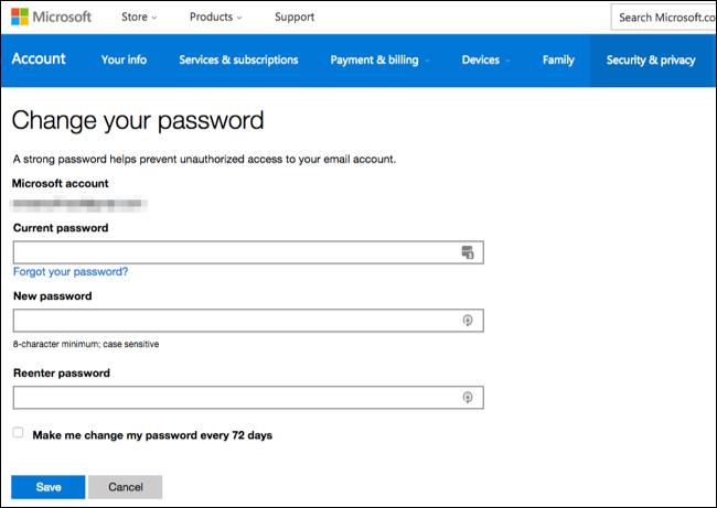 forgot my xbox one password