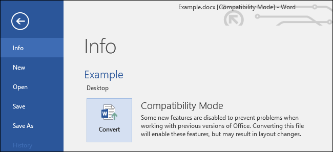 What Is \u201cCompatibility Mode\u201d in Microsoft Office?