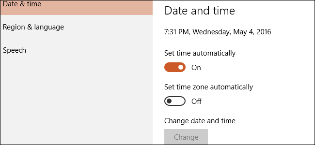How to Allow a Standard Windows 10 User to Change the Time and Date