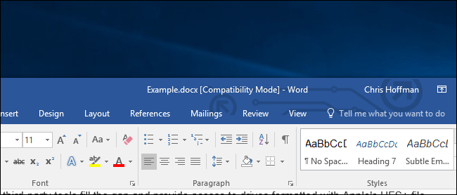 what is microsoft word compatibility mode