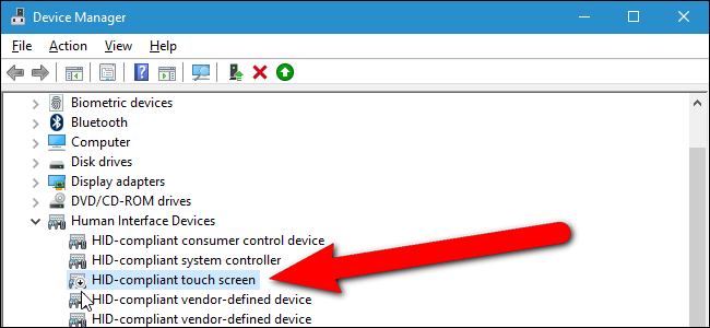 How to Enable or Disable Your Computer's Touch Screen in Windows 10