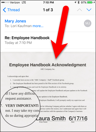 How to Sign Documents and Mark Up Attachments in iOS Mail