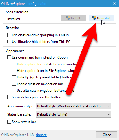 windows 10 file explorer default details