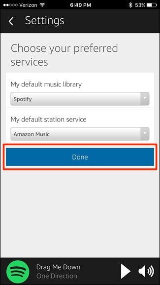 play spotify on alexa