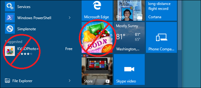 "How to Get Rid of ""Suggested Apps"" in Windows 10"