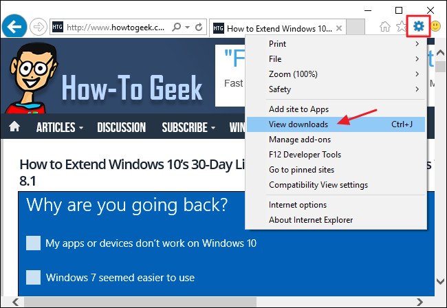 How to Change the Location of Internet Explorer's Download