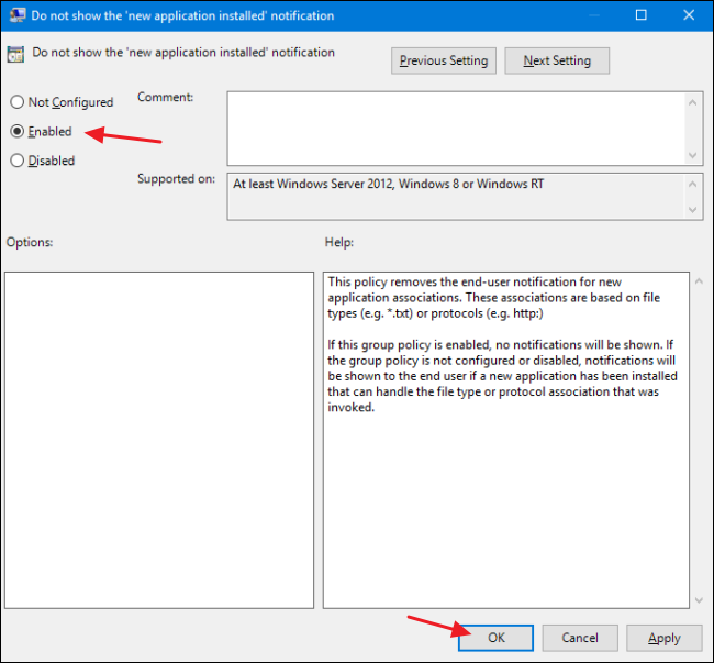 """How to Disable the """"New App Installed"""" Notification in Windows 8 and 10"""