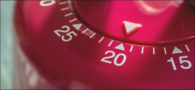 Macro Of A Kitchen Egg Timer - 20 Minutes