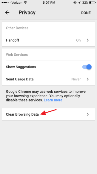 how to clear your browsing history on chrome