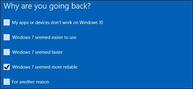 windows 10 windows 7 downgrade