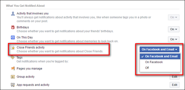 Get notifications from facebook friends