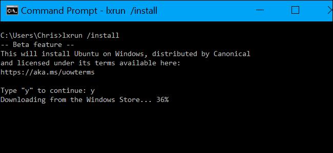 How to Uninstall (or Reinstall) Windows 10's Ubuntu Bash Shell