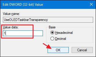 how to change windows 7 taskbar transparency
