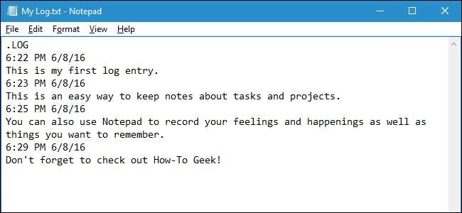 How to Use Notepad to Create a Dated Log or Journal File