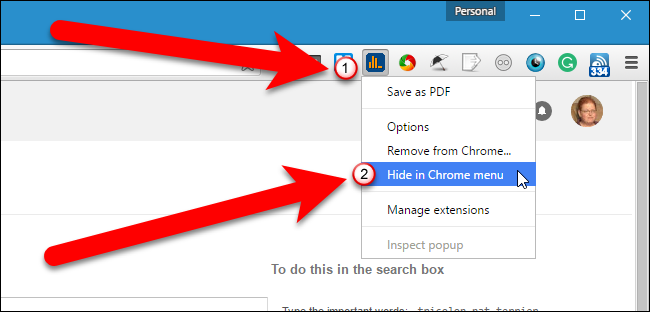 how to add extension to chrome toolbar
