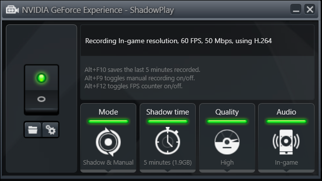 how to save a shadow play recording