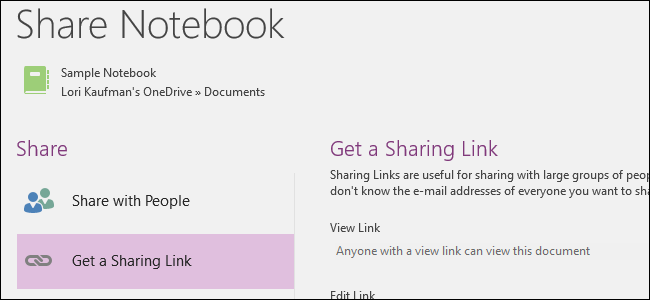 How to Share Notebooks in Microsoft OneNote 2016