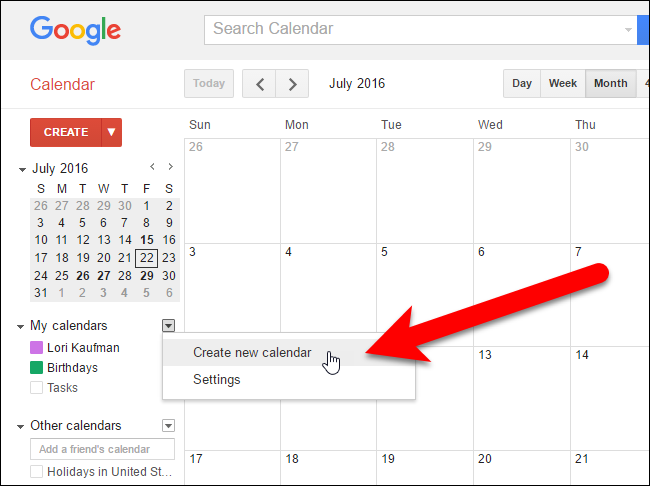 Google Calendar Design : How to share a google calendar with other people
