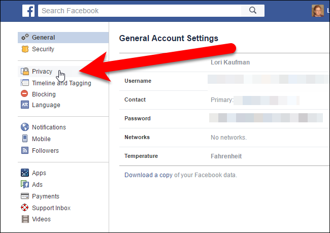 how to delete old privacy setting of facebook