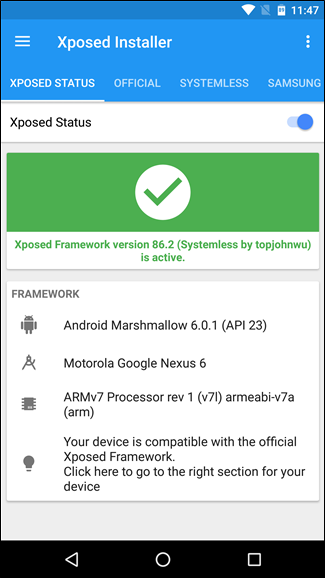 how to install the new systemless xposed framework for frustration