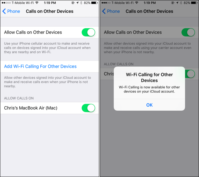Wifi issue iphone 5s calling t mobile