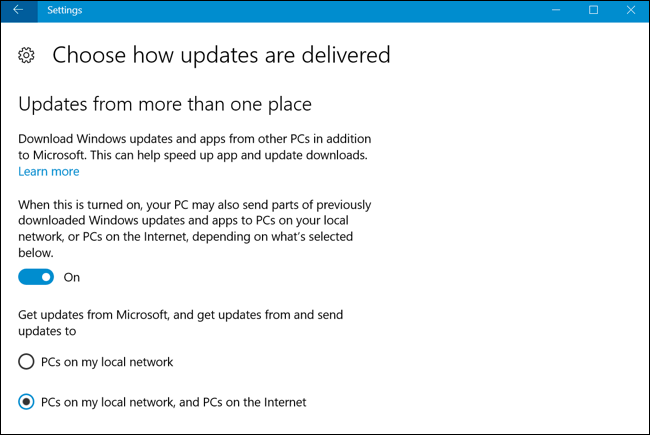 windows 10 turn off update upload