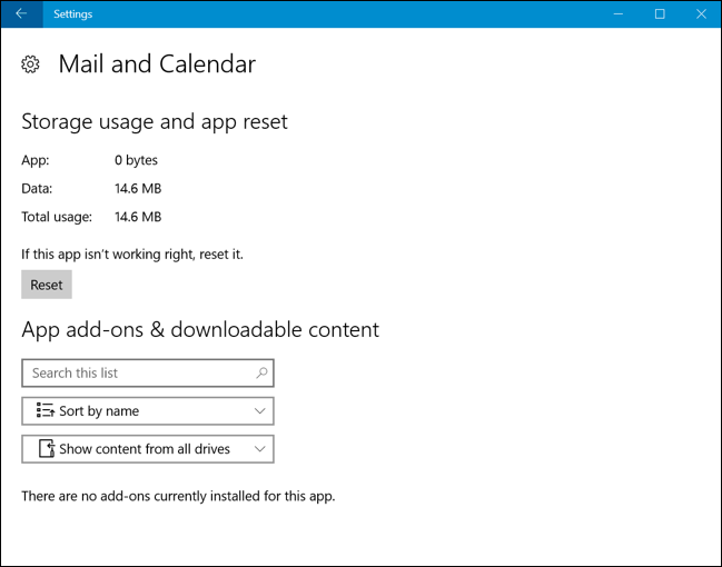 How to Reset an App's Data on Windows 10