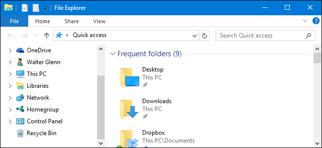 How to Show the Control Panel and Recycle Bin in the Windows File