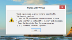 How to Recover a Lost or Corrupt Document in Microsoft Word 2016