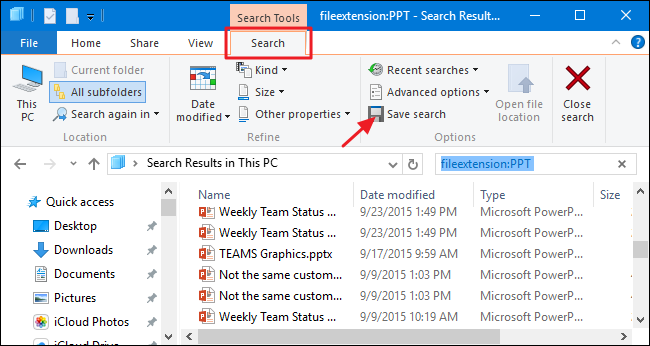 How to Save Searches in Windows for Quick Access Later