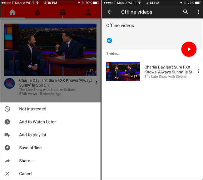 youtube gaming how to download offline videos